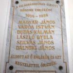 Első világháborús emléktábla