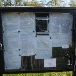 Cemetery – information board